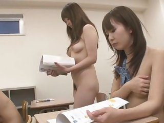 Crazy Japanese chick Anri Hoshizaki, Reina Akitsuki, Mao Itoh in Hottest Public, Teens JAV movie