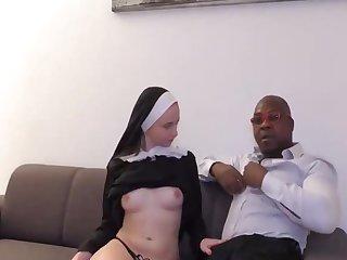 Reverend brown preaches to a junior nun 3